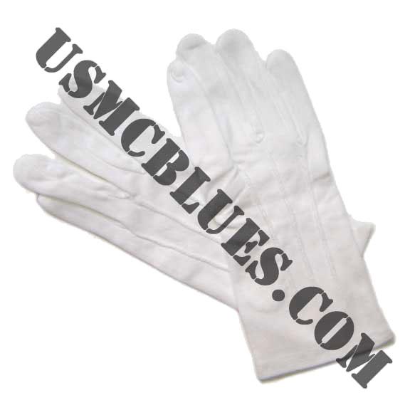 Dress blues white gloves