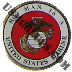 My Man is a US Marine Sticker Size: 4