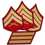 Red Gold Rank Patches